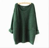 Suéter irregular flojo del Knit del puente del suéter de las mujeres de la alta calidad
