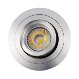 Projecteur enfoncé par inclinaison ronde de l'aluminium GU10 MR16 DEL de tour (LT2302B)
