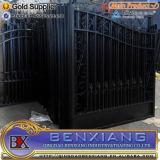 Black Power Coating Iron Main Gates