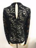 Vestuário de moda Camisa de manga comprida bordado roupas de bordado