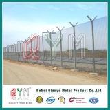 Rete fissa dell'aeroporto del collegare del rasoio della parte superiore della rete fissa della rete metallica della barriera di sicurezza dell'aeroporto