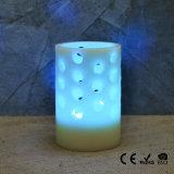 Colorear la vela con pilas sin llama cambiante del LED