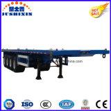 3 remorque de conteneur de lit plat des essieux 40FT/haut de bâti remorque semi