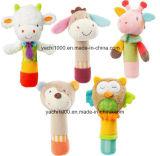 Het veilige Gevulde Dierlijke Hoofd Gevormde Stuk speelgoed Varita van de Baby/Rammelaar