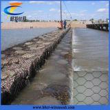 Prezzo galvanizzato esagonale del cestino di Gabion della rete metallica di controllo di erosione