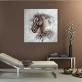 Peinture à l'huile d'une tête de cheval