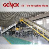 завод по переработке вторичного сырья/система автошины 5000kg/Hr