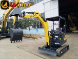 Excavatrice professionnelle de chenille du fabricant 1.8t de loup mini
