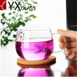 200ml de gros de boire à simple paroi en verre clair de tasses de thé haut tasses à café élégant verre borosilicaté Mugs