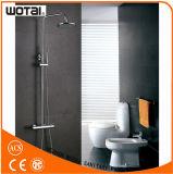 Placa de cromo acabado de pared montado grifo de la ducha