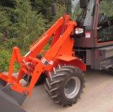 Mini cargador Zl08 de la agricultura con los dispositivos de protección en caso de volcamiento y la sombrilla