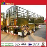 remorque de cargaison en bloc du pieu 40-60ton/frontière de sécurité semi pour la vache