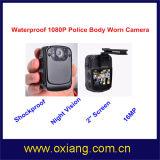 방수 120 도를 가진 경찰 바디에 의하여 착용되는 비데오 카메라 광각