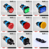 Hbs1-a 16mm Round Shape Spdt Momentary Pushbutton con 8 Pins