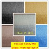 AISI 304 chapa de aço inoxidável gravada gravura a água-forte do Ti-Ouro de 430 espelhos
