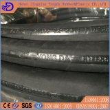 Boyau en caoutchouc hydraulique de boyau tressé de fil d'acier