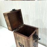 غلّة كرم أسلوب وحيدة خشبيّة خمر صندوق