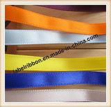 Colorido sola cara o la cara tejida borde de la cinta de satén de poliéster doble (PS400)