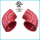 Coude Grooved de fer malléable approuvé de FM/UL (ajustage de précision de pipe d'incendie)