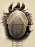 Remyの毛- Toupee前部レースおよびが付いているモノラルおよびPU