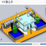 Maquinaria de la pirolisis de la planta de reciclaje de la basura de la vida 12ton para el petróleo