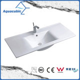 Évier de salle de bain et évier de comptoir en une pièce (ACB7790)