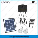Alto Brightness LED Indoor Solar Lighting System con Phone Charger