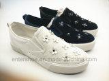 ゴム製Outsole (ET-YH160102W)の2016の新しいデザイン女性のズック靴