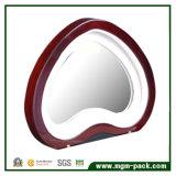 Contenitore di monili di legno Heart-Shaped con lo specchio