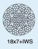 Corda de fio de aço 18X7+Iws de Ungalvanized (19X7)