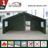 알루미늄 프레임 녹색 PVC 군 육군 천막