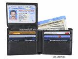 RFID che ostruisce protezione di cuoio di furto di identità della carta di credito del raccoglitore del Mens