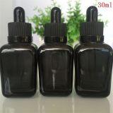 Quadratische bunte Glasflaschen für wesentliches Öl, kosmetisches Glas