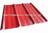 La qualité a ridé la feuille de toiture/feuillard ondulé galvanisé de toiture de tôle d'acier