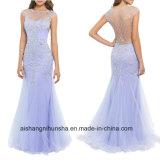 Femmes perlant la robe de bal d'étudiants de soirée de gaine de Tulle
