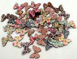 Botões / ícones de madeira multicoloridos para Scrapbooking & DIY Crafts