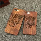 Caisse dure découpée normale de PC en bois de bois de rose pour l'iPhone 7