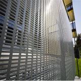 Metal perfurado flexível da parede da prova da poeira e do vento