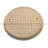 Coperchio di botola rotondo composito di resistenza eccellente di invecchiamento En124 con il blocco per grafici