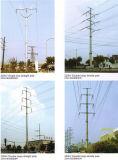 Zeile der Übertragungs-220kv Stahl Pole