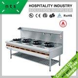 acier inoxydable cuisinière à gaz gamme de cuisine chinoise