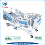 Hospital eléctrico de cinco funciones y base médica con el regulador de la enfermera