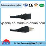 アメリカULのプラグの拡張パワープラグケーブル3 Pinの電源コード