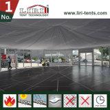 Première tente de toit pour la tente de mariage de 100 personnes avec des décorations