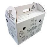 クラフト紙波形ペット猫のハンドルが付いている動物のキャリアボックス