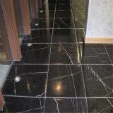 Doppio marmo nero su Polished, marmo di Nero Marquina