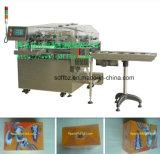 Máquina de envolvimento automática do celofane da caixa do chá da tecnologia de Ima com fita do rasgo