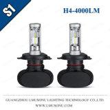 Lmusonu S1 차 헤드라이트 H4 LED 헤드라이트 LED 자동 빛 35W 4000lm