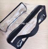 De opnieuw te gebruiken Plastic Zak van de Hand van pvc Stikkende voor Toiletry Uitrusting