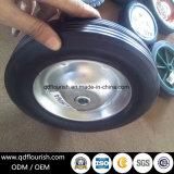 Orlo d'acciaio della rotella di gomma solida della polvere per i carrelli 8 pollici